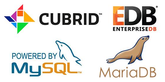 큐브리드(CUBRID), MySQL, EnterpriseDB, MariaDB