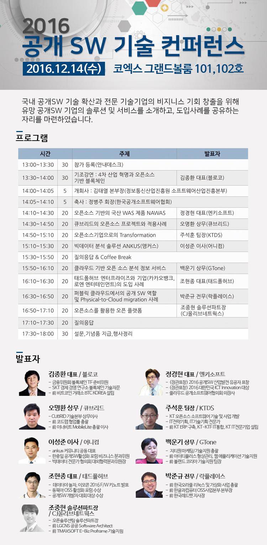 2016 공개SW 기술 컨퍼런스