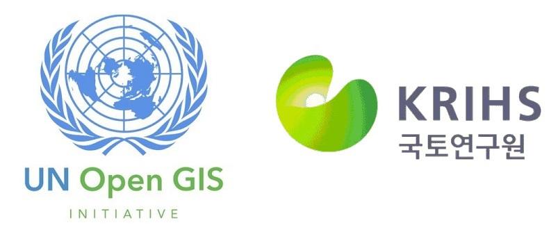 유엔 오픈GIS 이니셔티브 국토연구원 로고