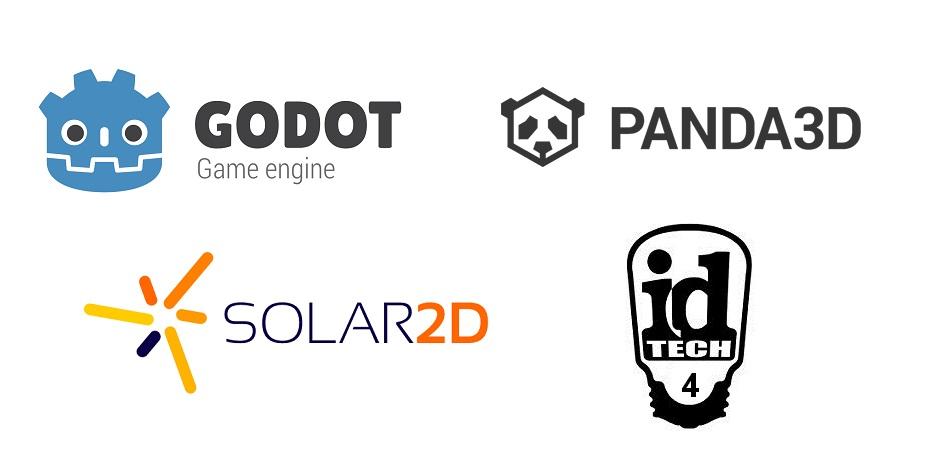 오픈소스게임 엔진 로고들